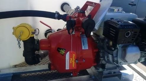 Davey pump attached to Coerco fire fighting unit