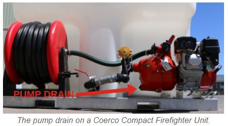 Pump drain on Coerco Compact Firefighter
